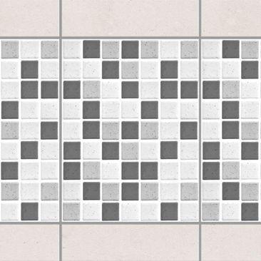 Product picture Tile Border - Mosaic Tiles Gray 15x20 cm