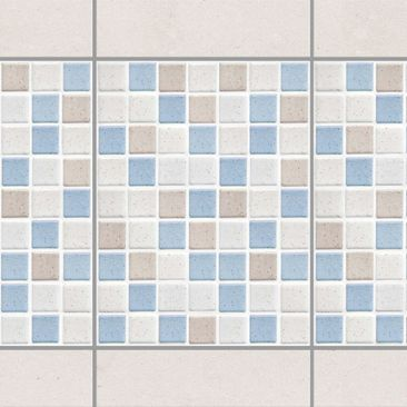 Product picture Tile Border - Mosaic Tile Sea Sand 15x20...