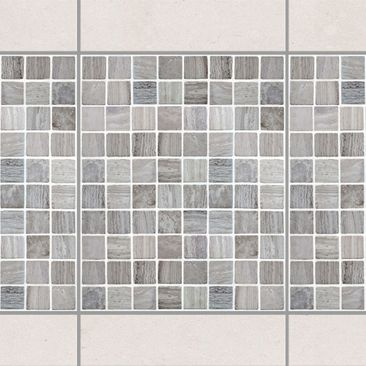 Produktfoto Fliesen Bordüre - Mosaikfliesen Marmoroptik 20x25 - Fliesensticker Set