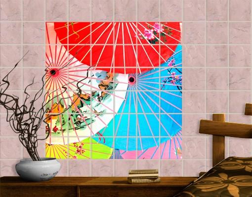 Produktfoto Fliesenbild Chinese Parasols