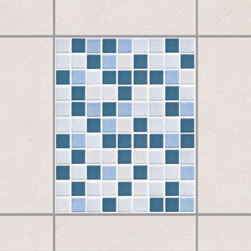 Product picture Tile Sticker - Mosaic Tiles Blue Gray...