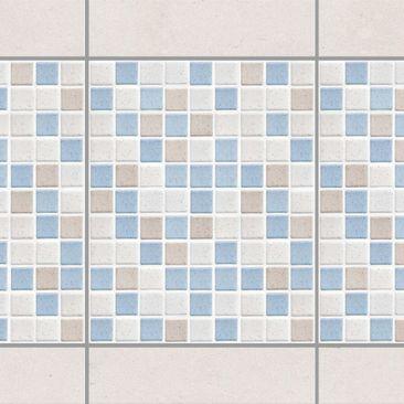 Produktfoto Fliesen Bordüre - Mosaikfliesen Meersand 20x25 - Fliesensticker Set