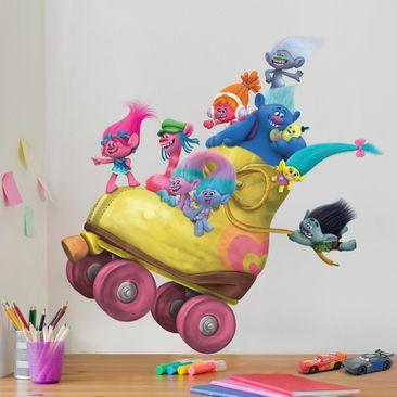 Produktfoto Wandtattoo Trolls - Rollerskating