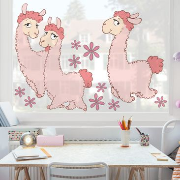 Produktfoto Fensterfolie - Fenstersticker - NICI Rosa Lama Set