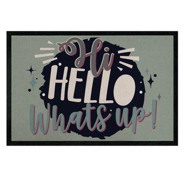 Produktfoto Fußmatte - Hi Hello Whatsup