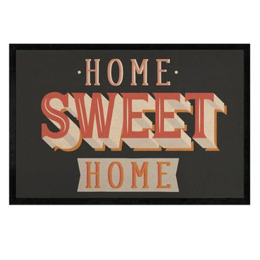 Produktfoto Fußmatte - Home sweet home retro