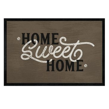 Product picture Doormat - Home sweet home shabby brown