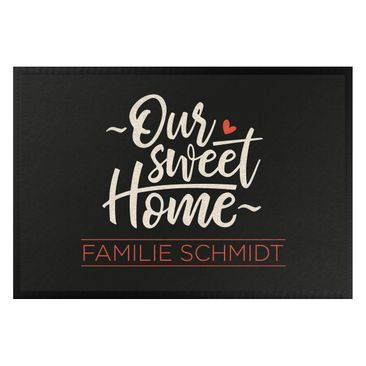 Produktfoto Fußmatte + Name - Our sweet home Wunschtext