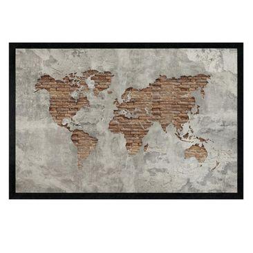 Immagine del prodotto Zerbino - Shabby Concrete Brick World Map