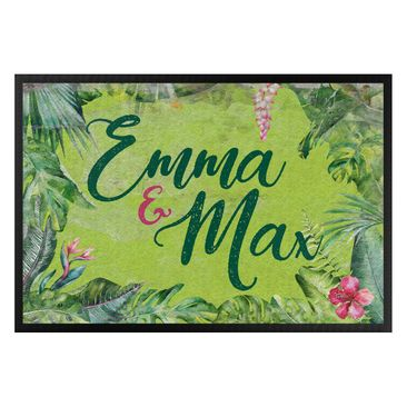 Product picture Doormat - Tropical frame Your Own Name