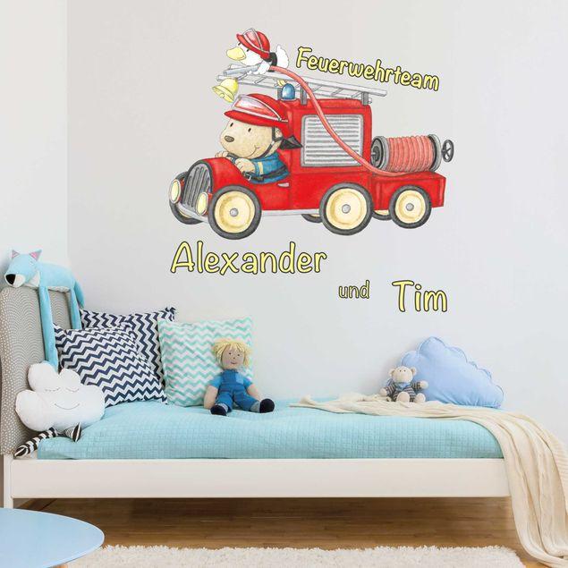 Produktfoto Wandtattoo mit Wunschtext - Feuerwehrteam