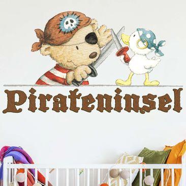 Produktfoto Wandtattoo - Pitzelpatz und Schnaddeldatz auf Pirateninsel