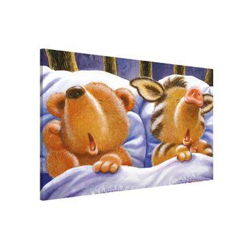 Immagine del prodotto Lavagna magnetica - Orsetto Buddy - In Bed - Formato orizzontale 3:2