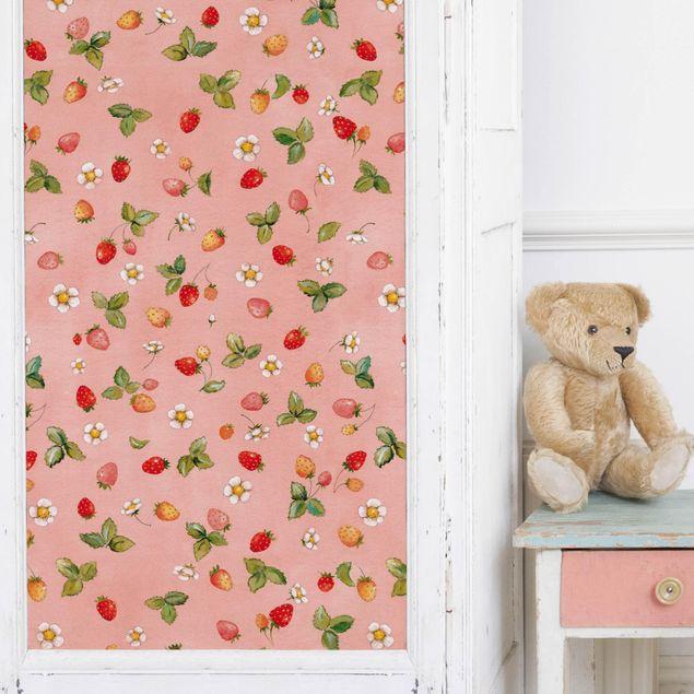 Produktfoto Möbelfolie - Erdbeerinchen Erdbeerfee - Erdbeerblüten