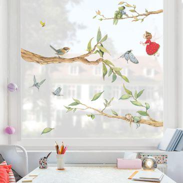 Immagine del prodotto Adesivi da finestra - The Strawberry Fairy - With Tree Fairy And Heupferd