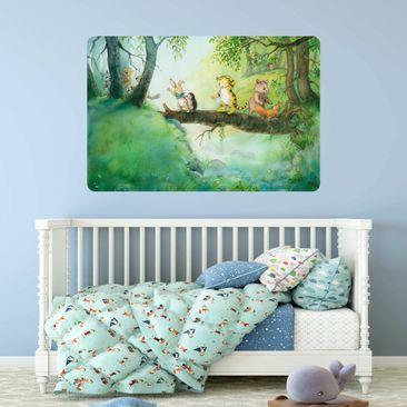 Produktfoto Selbstklebendes Wandbild - Kleiner Tiger - Baumbrücke