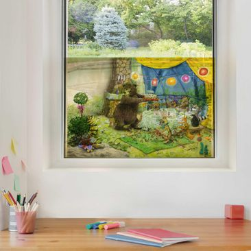Product picture Window Mural  - Little Tiger - Birthday...