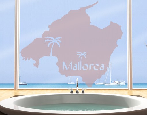 Produktfoto Fensterfolie - Fenstertattoo No.477 Mallorca - Milchglasfolie