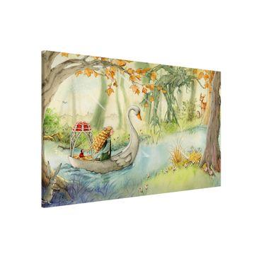Immagine del prodotto Lavagna magnetica - Lilia - The Swan Boat - Formato orizzontale 3:2