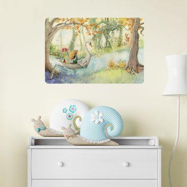 Produktfoto Selbstklebendes Wandbild - Lilia - Im Schwanenboot