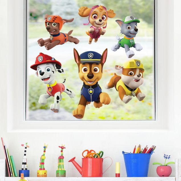 Produktfoto Fensterfolie Fenstersticker - PAW Patrol - Freunde in Action