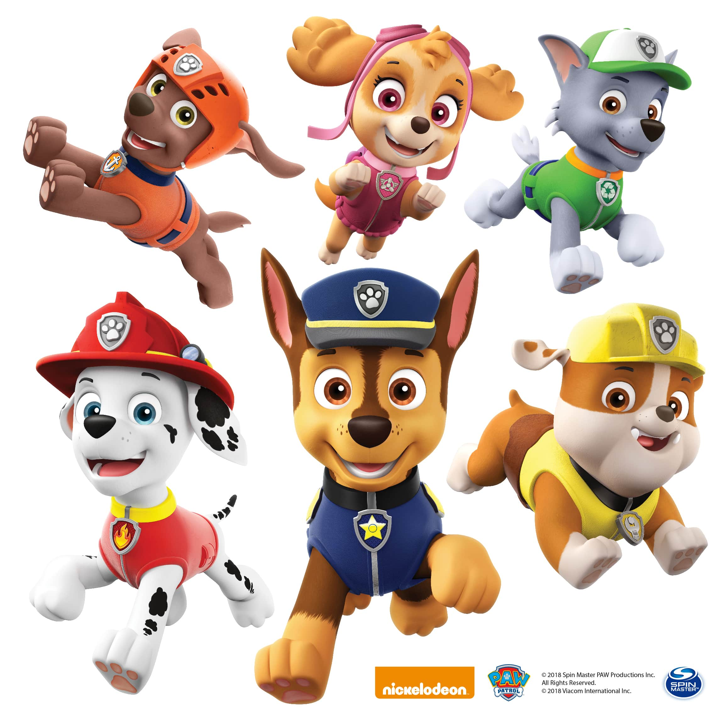 Wandtattoo - PAW Patrol - Freunde in Action