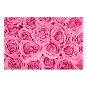 Product picture Non-woven wallpaper - Pink Roses - Mural...