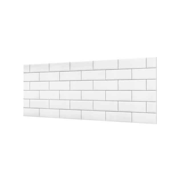 Produktfoto Spritzschutz Glas - Keramikfliesen Weiß - Panorama