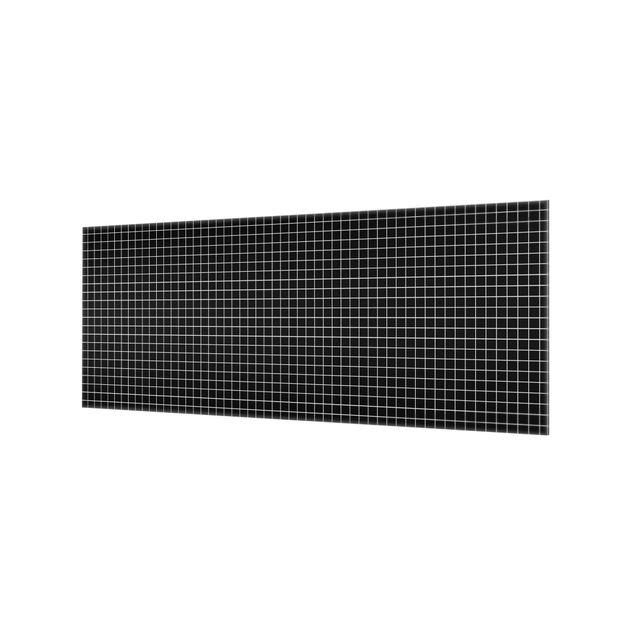 Produktfoto Spritzschutz Glas - Mosaikfliesen Schwarz Matt - Panorama