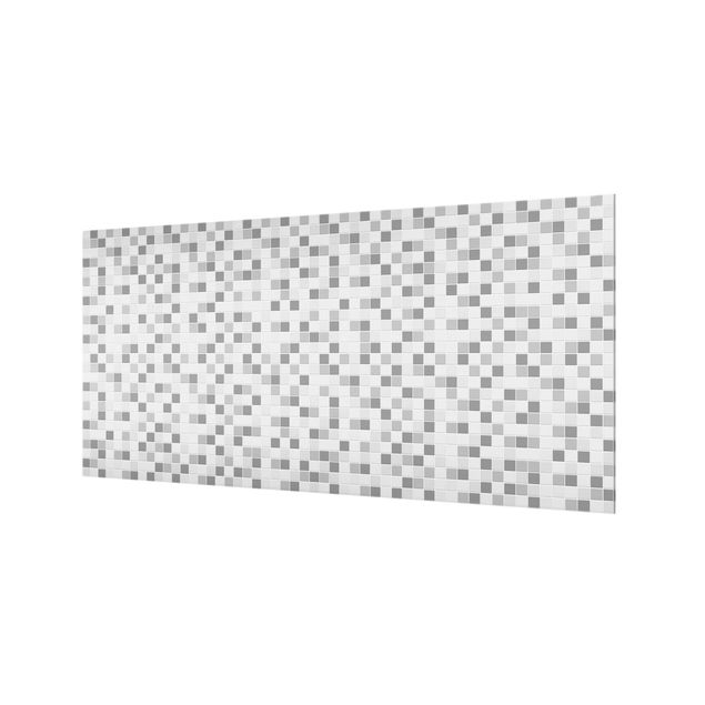Produktfoto Spritzschutz Glas - Mosaikfliesen Winterset - Querformat 1:2