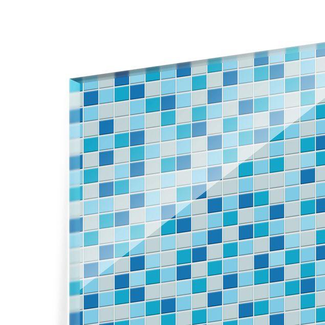 Produktfoto Spritzschutz Glas - Mosaikfliesen Meeresrauschen - Querformat 3:4