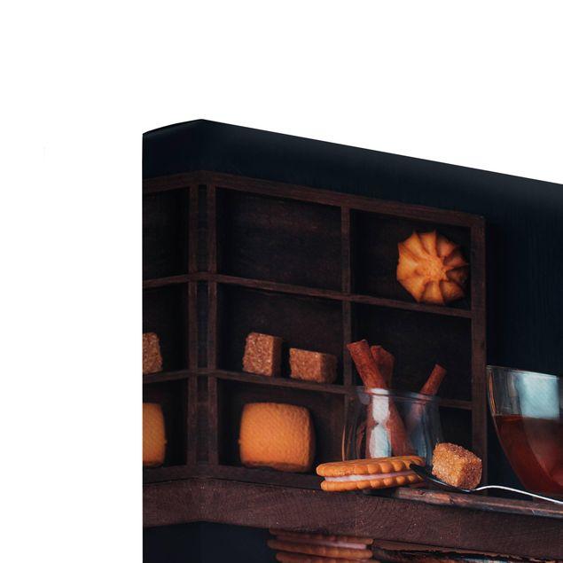 Produktfoto Leinwandbild 2-teilig - Milch und Tee Komposition - Hoch 4:3, Keilrahmen Rückseite, Artikelnummer 225900-FB