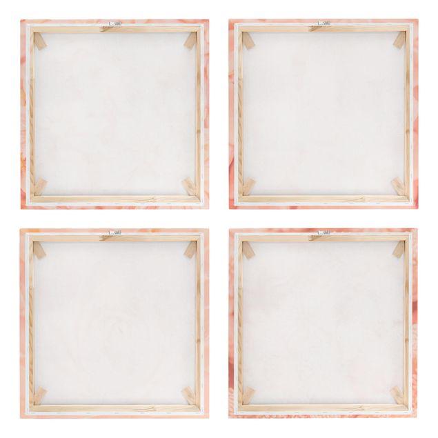 Produktfoto Leinwandbild 4-teilig - Rosa Blütenzauber, Spiegelkantendruck rechts, Artikelnummer 225904-FR