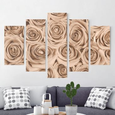 Product picture Canvas Art - Vintage Rose