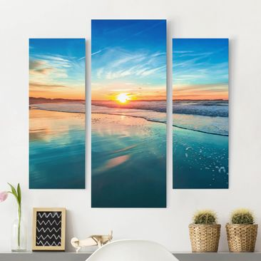 Product picture Canvas Art - Romantic Sunset By The Sea...