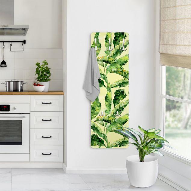 Produktfoto Garderobe - Bananenblätter Aquarell