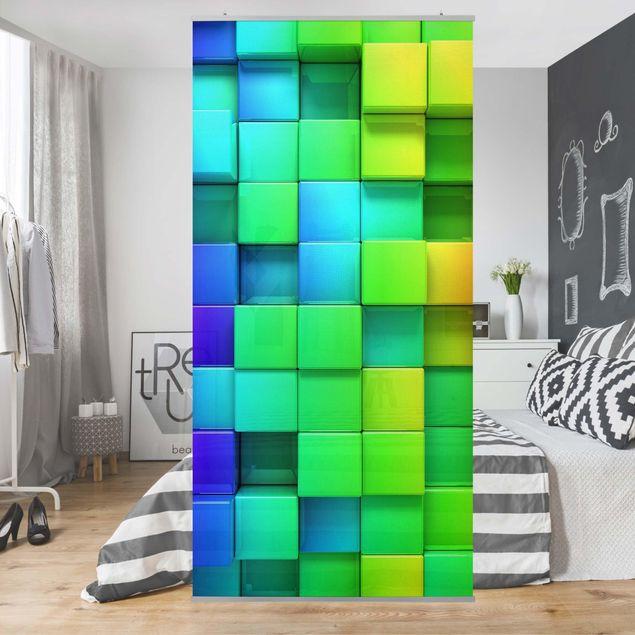 Produktfoto Raumteiler - 3D Würfel - 250x120cm