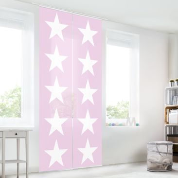Immagine del prodotto Tende scorrevoli set - Great White Stars On Pink - 2 Pannelli