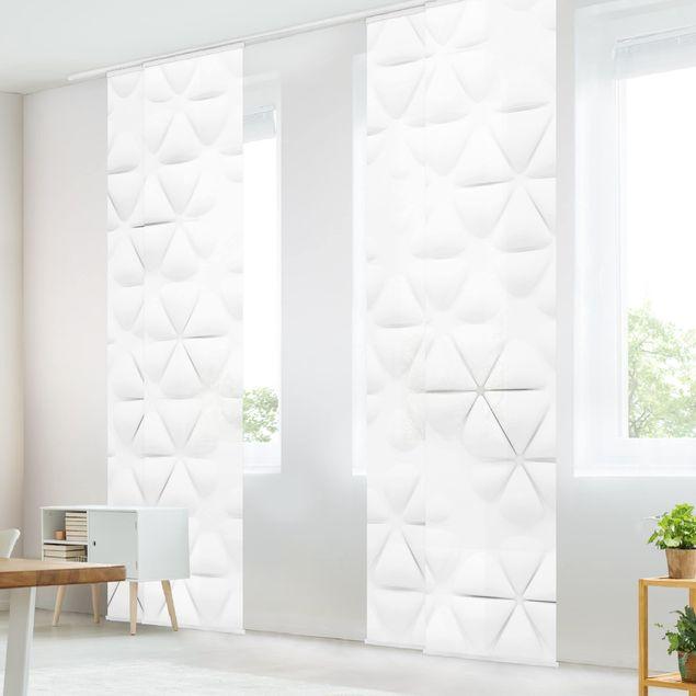 Produktfoto Schiebegardinen Set - Abstrakte Dreiecke in 3D - 4 Flächenvorhänge