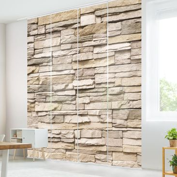 Immagine del prodotto Tende scorrevoli set - Asian Stonewall - Stone Wall From Big Bright Stones - 4 Pannelli