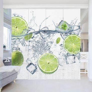 Produktfoto Schiebegardinen Set - Erfrischende Limette - 4 Flächenvorhänge