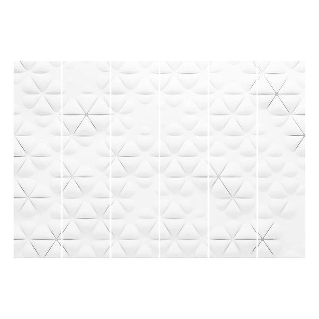 Produktfoto Schiebegardinen Set - Abstrakte Dreiecke...