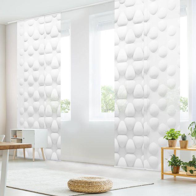 Produktfoto Schiebegardinen Set - Blütenmuster in 3D - 6 Flächenvorhänge