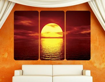 Produktfoto Wall Mural Fantastic Sunset Triptych I