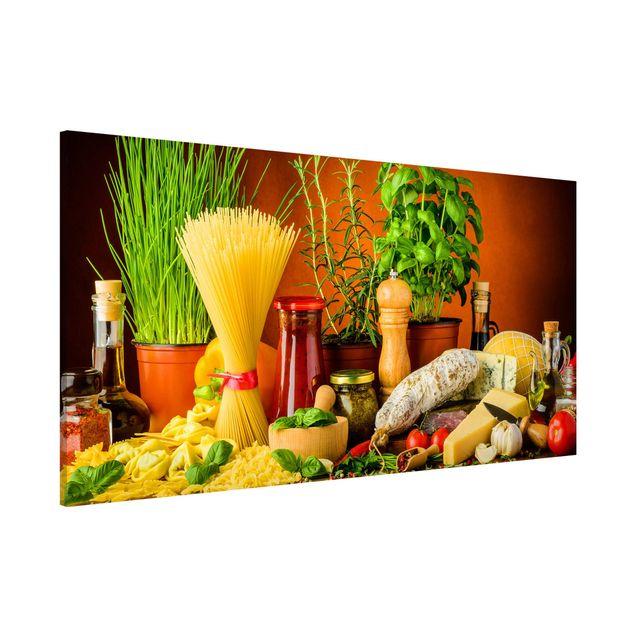 Produktfoto Magnettafel - Italienische Küche - Memoboard Panorama Querformat 1:2
