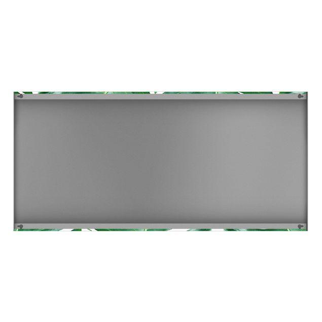 Produktfoto Magnettafel - Tropische grüne Blätter Monstera - Memoboard Panorama Querformat 1:2