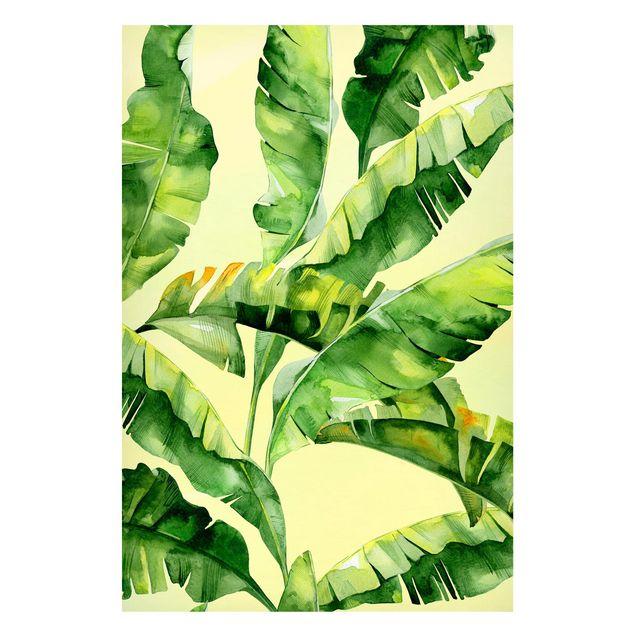 Produktfoto Magnettafel - Bananenblätter Aquarell - Memoboard Hochformat 3:2