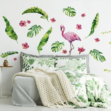 Immagine del prodotto Adesivo murale - Jungle Flamingo Leaves...