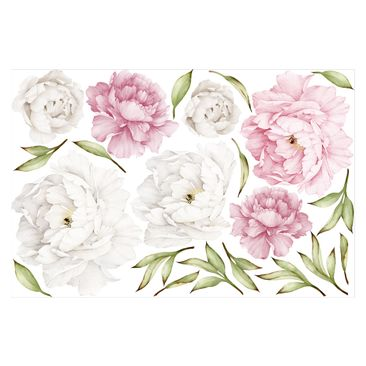 Product picture Wall Sticker - Peony Set Rosé White