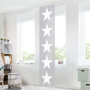 Immagine del prodotto Tenda scorrevole set - Great White Stars On Grey - Pannello